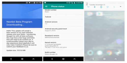 Nextbit Robin Starts Receiving Android Nougat 7.0 Beta Update.