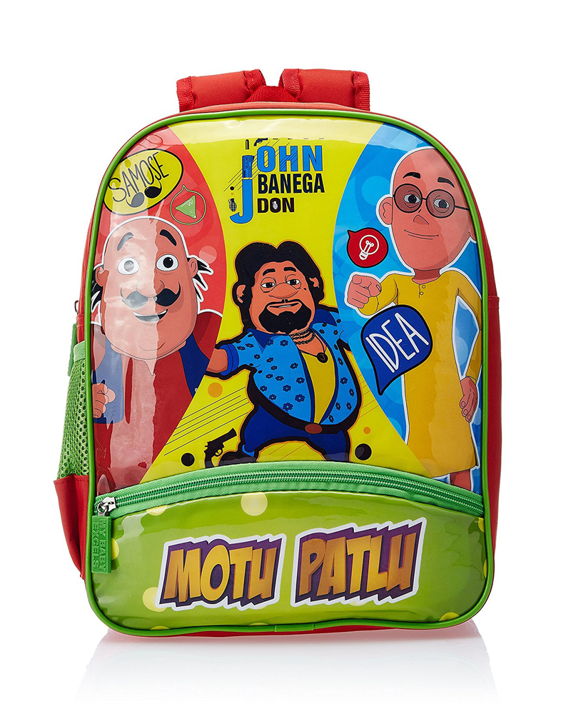 Motu Patlu Green and Red Children Bag (Age group :3-5 yrs)