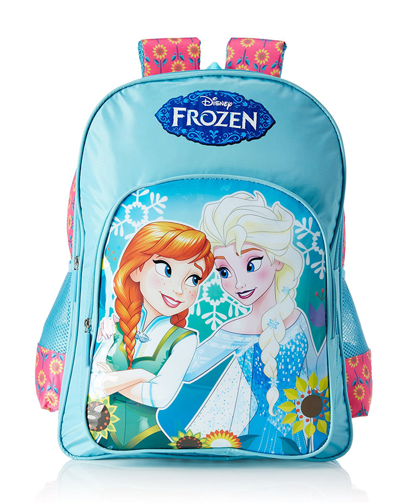 Frozen Polyester Pink and Blue School Bag (Age group :6-8 yrs)