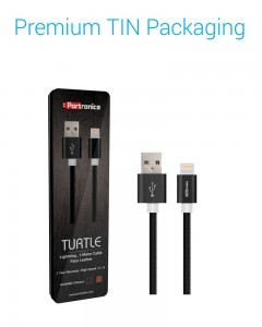 Portronics Turtle | 2m | Lightning Cable | Black |