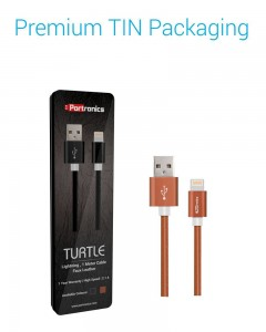 Portronics Turtle | 2m | Lightning Cable | Brown |