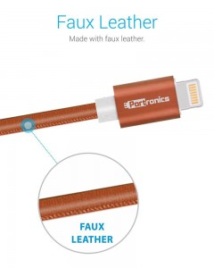 Portronics Turtle | 1m | Lightning Cable | Brown |