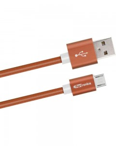 Portronics Turtle | 2m | Micro USB Cable | Brown |