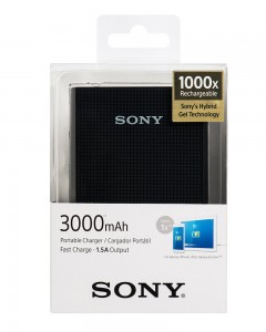 Sony CP-E3 Powerbank with polymer battery | Black