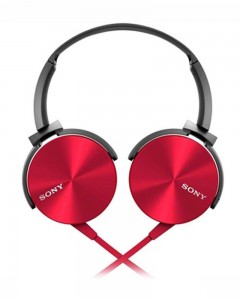 Sony MDR-XB450AP | Headphones With Mic | Red |