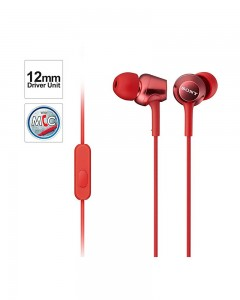 Sony MDR EX250AP | In-Ear Headphones | Mic | Red