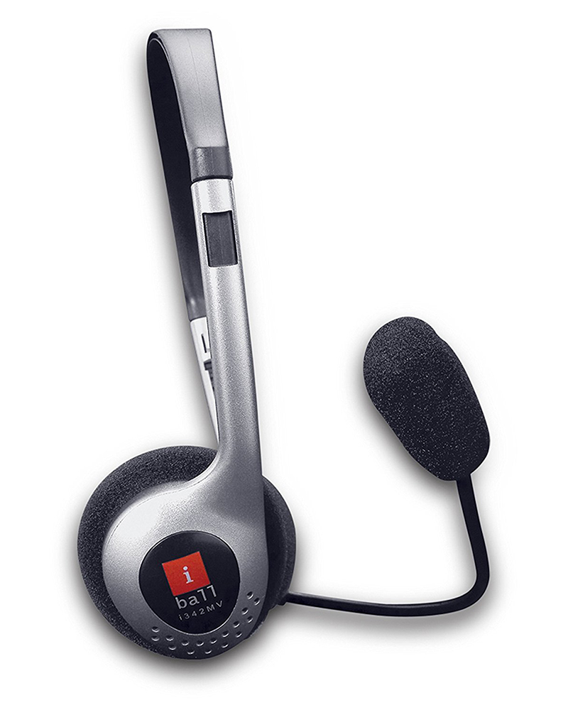 iBall i-342MV |  Headphones | Black/Grey