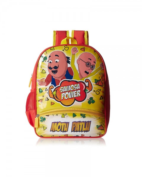 Motu Patlu Yellow and Red Children Backpack