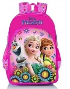Disney Frozen Floral Pink School Bag 18 inch