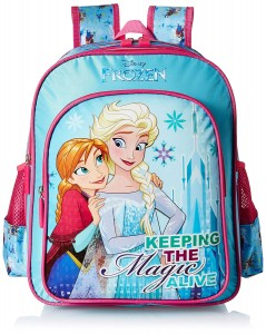 Frozen Blue School Bag for Children of Age Group 8 + years | Size 18 inch