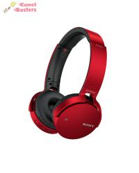 Sony MDR-XB650BT   Headphones With Mic   Red