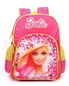 Barbie Polyester Pink and Yellow School Bag (Age group :3-5 yrs)