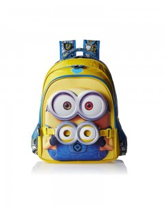 Minion Polyester Multi Colour School Bag