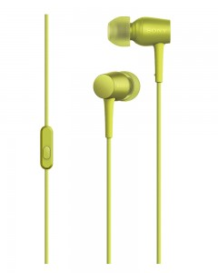 Sony MDR-EX750AP Earphones | Mic | Lime Yellow
