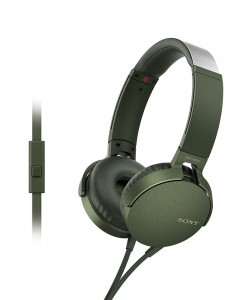 Sony MDR-XB550AP | Headphones With Mic | Green |