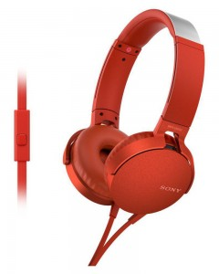 Sony MDR-XB550AP | Headphones With Mic | Red |