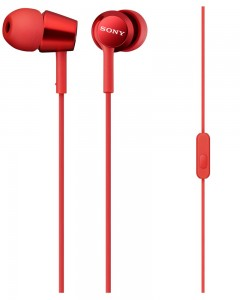 Sony MDR EX150AP In-Ear Headphones | Mic | Red