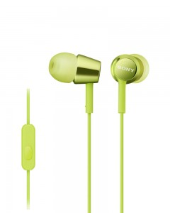 Sony MDR EX150 | In-Ear Headphones | Lime Green |