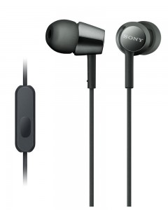 Sony MDR EX155 | In-Ear Headphones | Black |