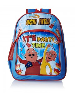 Motu Patlu Blue and Red Children's Bag (Age group :3-5 yrs)
