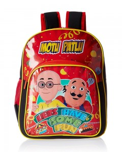 Motu Patlu Red and Black Children's Bag (Age group :3-5 yrs)
