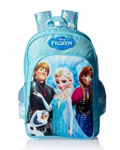 Frozen Polyester Blue School Bag (Age group :6-8 yrs)