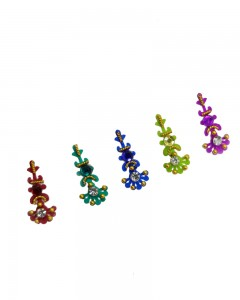 Comet Busters Multi color Party Wear Bindi