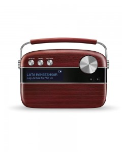Saregama Carvaan With Remote | Cherrywood Red