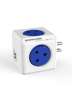 PowerCube Spike Guard Wall Adapter with 4 outlet