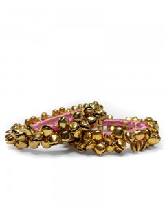 Comet Busters Beautiful Pink Ghungroo Bangle Set For Women