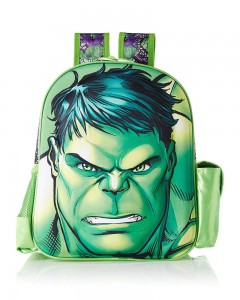 Hulk Polyester Green School Bag