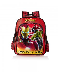 Avengers Inifinity War Iron Red School Bag for Children of Age Group 8 + years | Size 18 inch