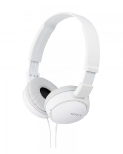 Sony MDR-ZX110A On-Ear Stereo Headphones (White)